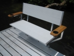 Northern Lights Aluminum Bench with Arm Rests