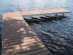 "Shoreside Trac Dock ""L"" with Moistureshield Decking"