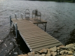10' Shoreside Trac Dock with 5' Patio - Moistureshield Decking