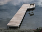 40' Shoreside Trac Dock with 10' Patio - Cedar Decking