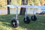 ShoresideTrac Dock with Telecoping Legs with Wheels