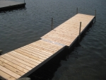 20' Floating Shoreside Dock with 10' Ramp - Cedar Decking