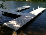 Shoreside Aluminum Dock with PVC Decking