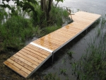 4' x 30' Shoreside Trac Dock with 4' x 10' Patio Section - Cedar Decking