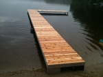 "4' x 45' Shoreside Dock with 15' ""L"" - Cedar Decking"