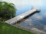 40' Ridgeline Dock with 8' x 8' Patio - Polymer Decking