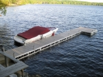 40' Ridgeline Dock with 4' x 8' Patio - Polymer Decking