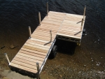16' Ridgeline Dock with 4' x 8' Patio - Cedar Decking