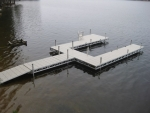 "Ridgeline ""U"" Dock with Patio and Bench"