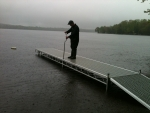 24' Rolling Northern Lights Dock - Thru-Flow Decking - Telescoping Legs