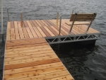 8' x 12' Floating Ridgeline Dock - Cedar Decking