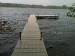 "64' Ridgeline Dock with 8' x 16' ""L"" - Polymer Decking"