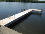 48' Ridgeline Rolling Dock with 8' x 8' Patio - Cedar Decking