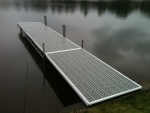 16' Northern Lights Dock with 8' Ramp - Thru-Flow Decking