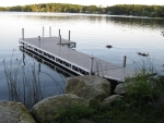 24' Ridgeline Dock with 4' x 8' Patio and 4' Ramp