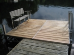 8' x 8' Ridgeline Dock with Bench