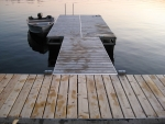 8' x 16' Floating Ridgeline Dock - Cedar Decking
