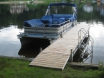 28' Ridgeline Dock with 4' Ramp and Stairs - Cedar Decking