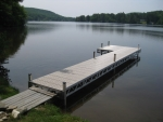 32' Ridgeline Dock with 4' x 8' Patio - Polymer Decking