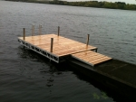 8' x 12' Ridgeline Dock with 4' Ramp - Cedar Decking