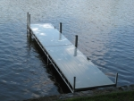24' Northern Lights Dock w/Ladder & Vertical Bumpers - Aluminum Decking