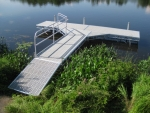 "Northern Lights ""T"" Dock with Ramp - Thru-Flow Decking"
