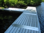 Northern Lights Commercial Floating Dock - Aluminum Decking