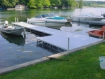 8' x 8' Patio with 24' Rolling Dock