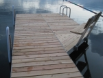 Shoreside Trac Dock with 4' Corner and Bench - Cedar Decking