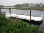 Floating Mod-U-Dock with Gangway & Fish Cleaning Station