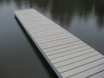 4' x 20' Shoreside Trac Dock with PVC Decking