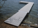 """5' Wide Shoreside Trac Dock with 8' x 12.5' """"L"""" with Ramp"""