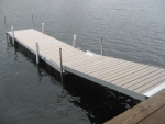 5' x 20' Floating Aluminum Dock with PVC Decking