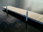 Aluminum Dock with PVC Decking and Vertical Bumpers