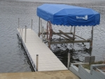 32' Ridgeline Dock with 3200LB Cantilever Boat Lift