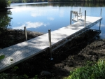 32' Ridgeline Dock with Patio and Bench