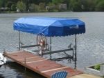 3500LB Cantilever Boat Lift with Canopy