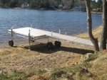28' Rolling Dock with 4' x 12' Patio - Polymer Decking