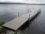 44' Ridgeline Dock with 12' Patio and 8' Ramp - Polymer Decking